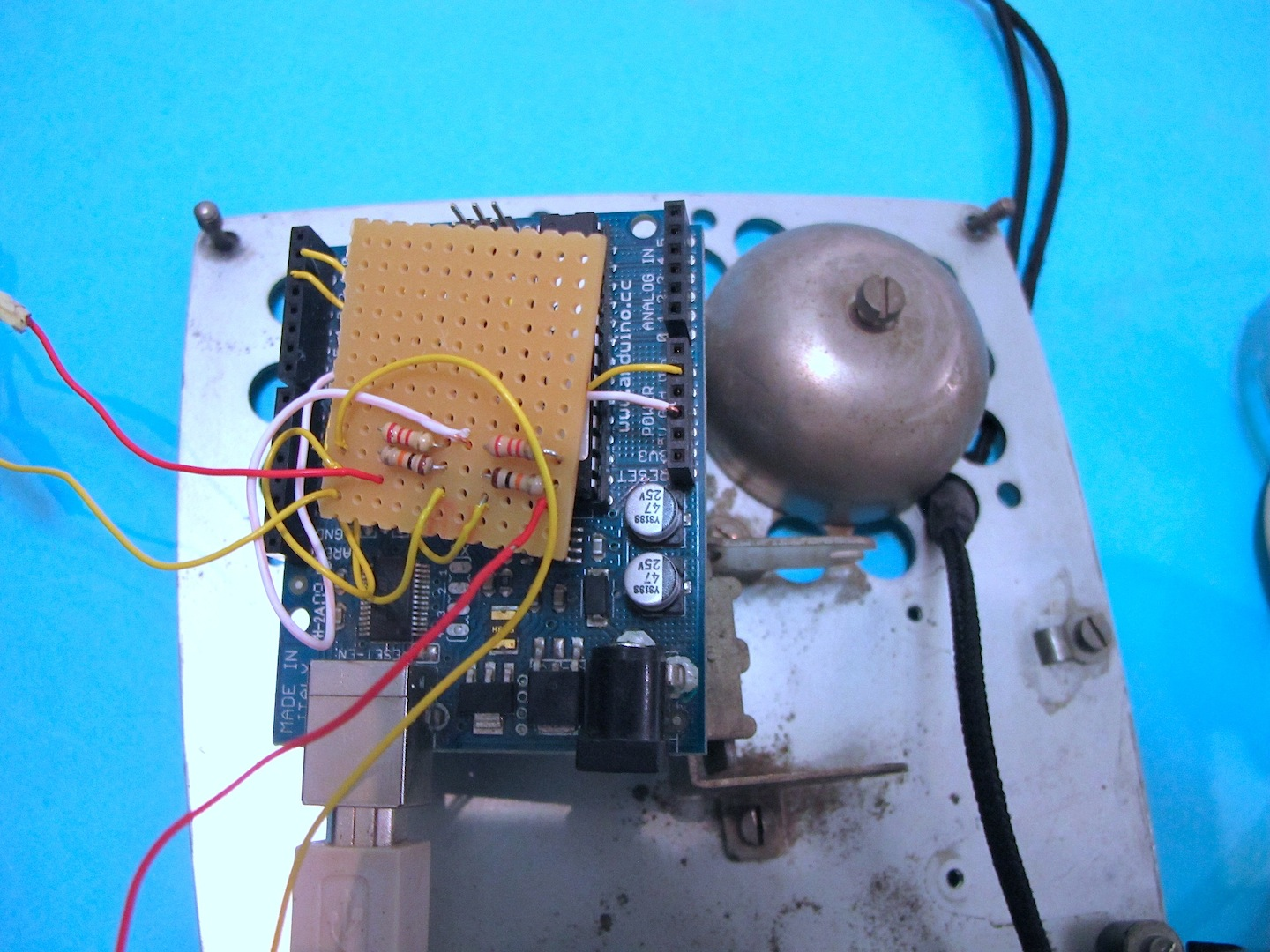 Rotary Dial Phone To Arduino Open Lab Egypt Handset Wiring Diagram Ok The Final Step Is Connect Your Computer And Write Some Code That Reads Numbers Also Tells Us Whether Up Or